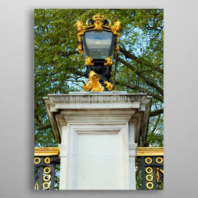 Ornament gate to a park next Buckingham Palace metal poster