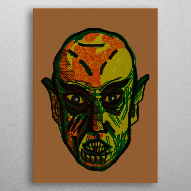 The toxic vampire is looking at you. metal poster