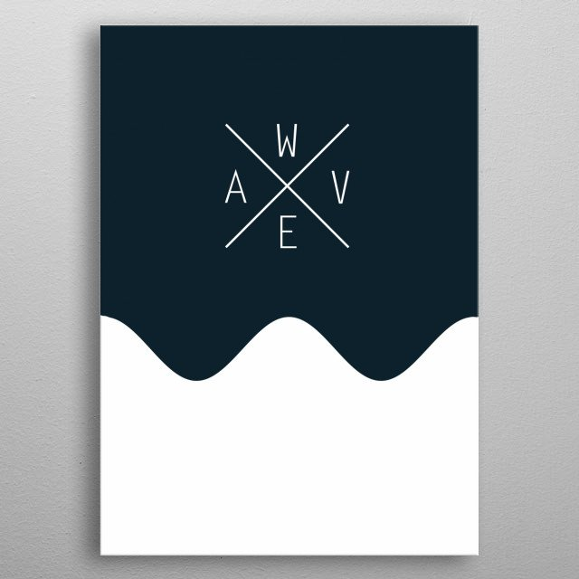 Modern design with beach, waves and hipster aesthetics for a fresh and new feel to decorate your home. metal poster