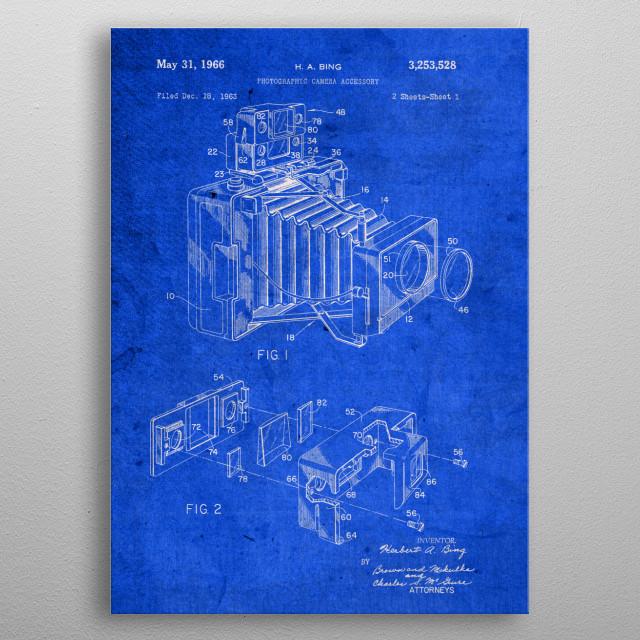 Bing Camera Vintage Patent Blueprint metal poster
