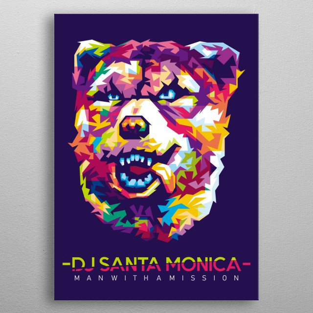Personil Band from Japan MAN WITH A MISSION - DJ SANTA MONICA metal poster