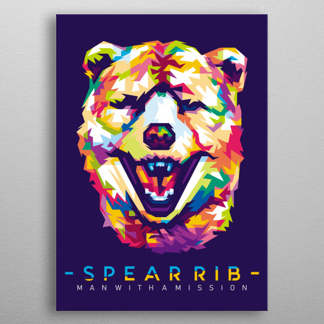 Personil Band from Japan MAN WITH A MISSION - SPEAR RIB metal poster