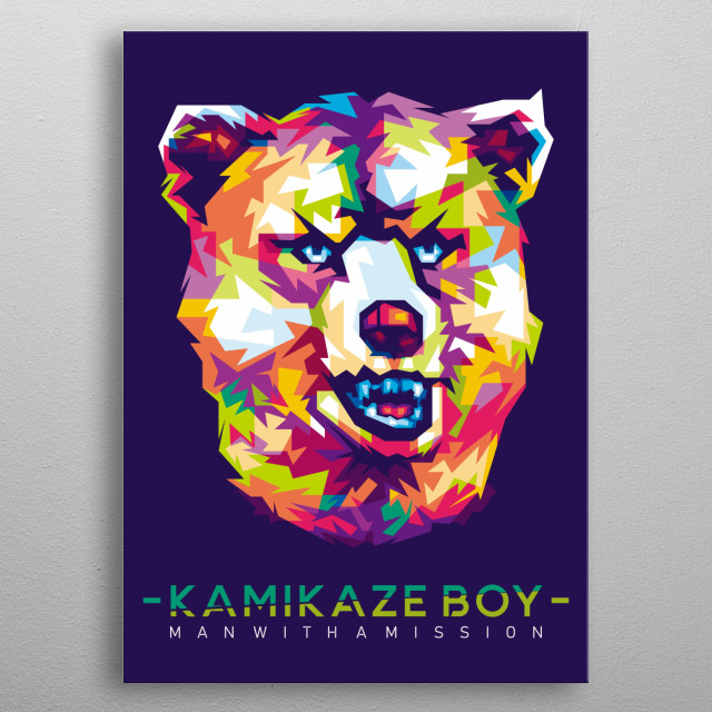 Personil Band from Japan MAN WITH A MISSION - KAMIKAZE BOY metal poster