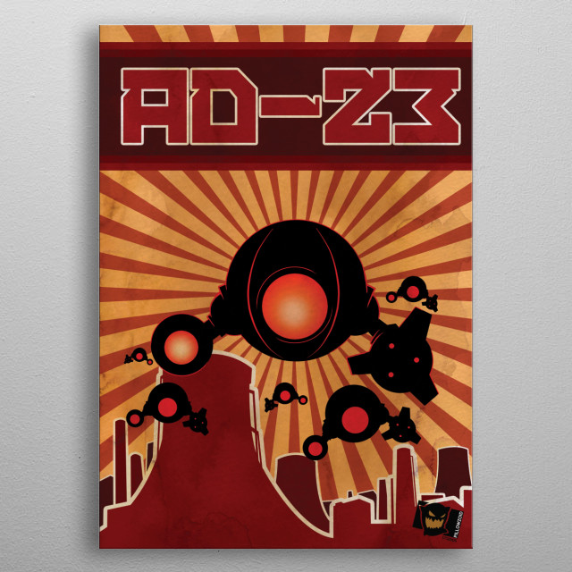 Pillowzoid Studio's AD23 – drones, drones, and more drones! © Pillowzoid Studios – uploaded with permission. metal poster