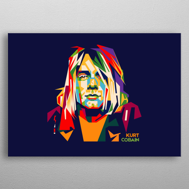 he is a singer, songwriter and guitarist in a grunge band from Seattle, Nirvana metal poster