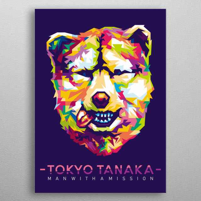 Personil Band from Japan MAN WITH A MISSION - TOKYO TANAKA metal poster