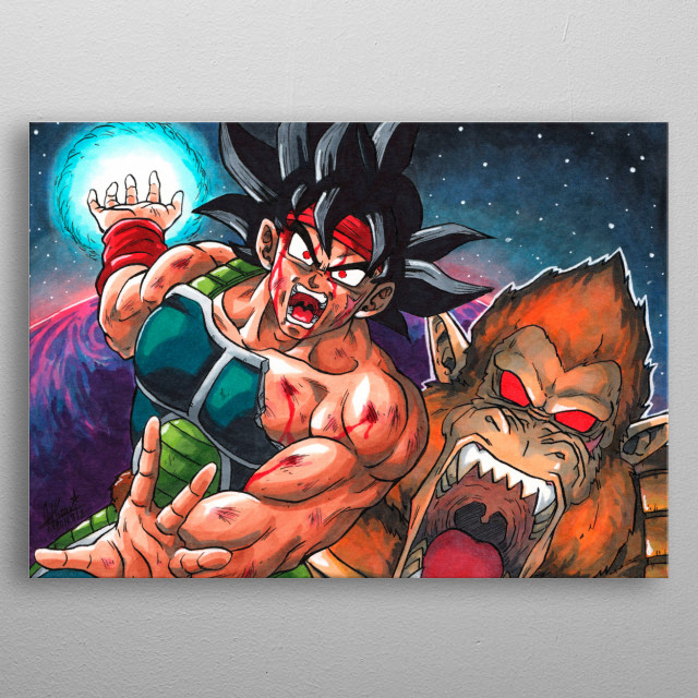 Tribute for my favorite character Bardock. Enjoy it this design and thank you for see my art. metal poster