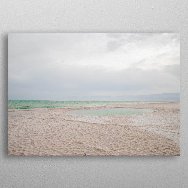 Morning at The Dead Sea in Israel   metal poster