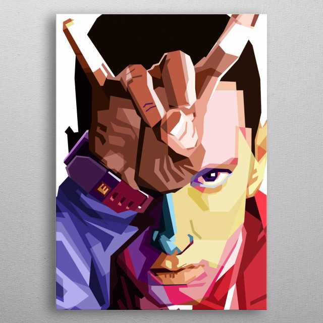 Pre-made WPAP Portrait of the infamous American Rapper EMINEM.  metal poster