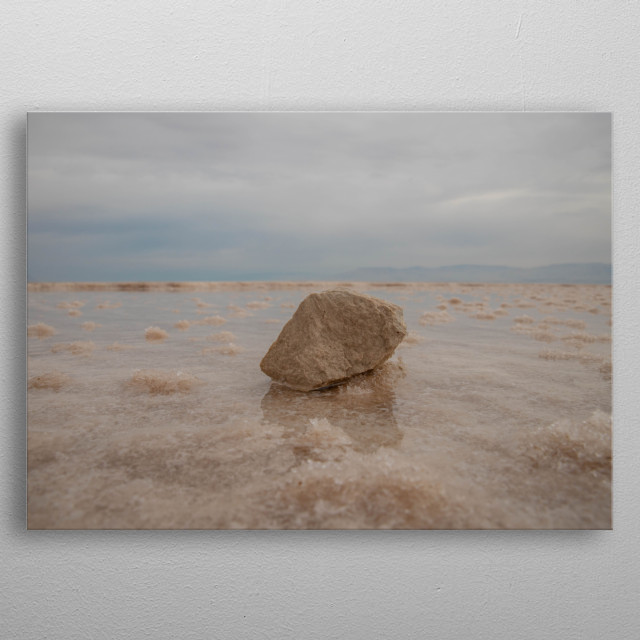 Stone in the Dead Sea, Israel metal poster