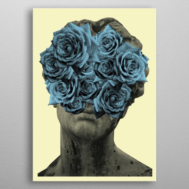 Flower + Girl + Blue = Flower Girl Blue By Mr. Lee   metal poster