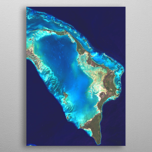 The Abaco Islands lie in the northern Bahamas 180 miles (290 km) east of South Florida. metal poster