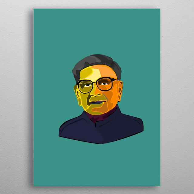 Shri R. Venkataraman former Indian President. metal poster