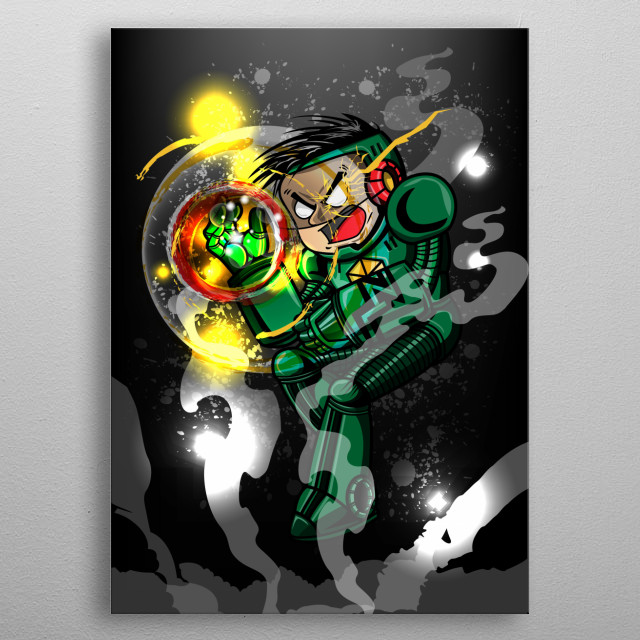 Zion Lee a superhero with a heart. metal poster