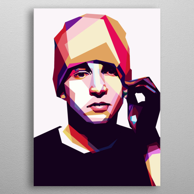 Pre-made WPAP Portrait from The Twenty One Pilots Band Joseph Tyler. metal poster