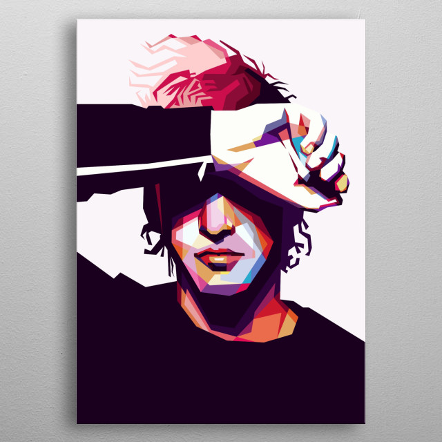 The Pre-made WPAP Portrait from the Joshua Dun, Drummer of the Twenty One Pilots Band. metal poster