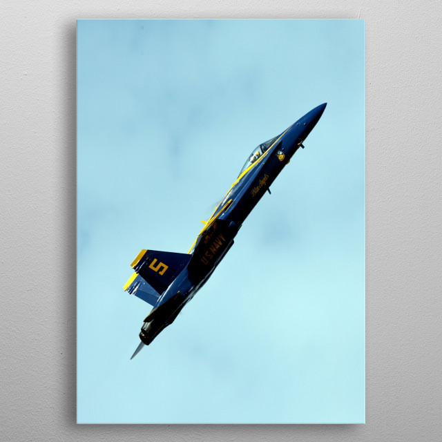 The Blue Angels is the United States Navy's flight demonstration squadron. metal poster