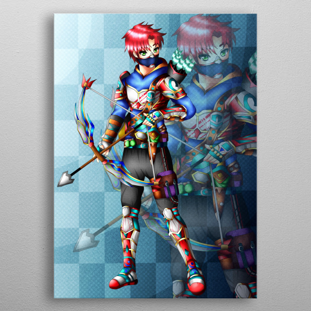 Archer red, is a character of the medieval era, anime version. metal poster