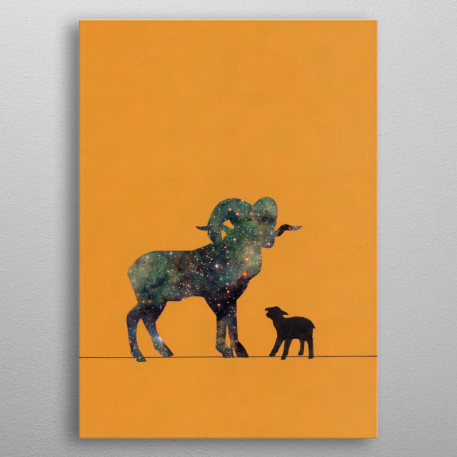 A unique piece of art. Simple and modern. metal poster