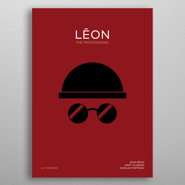 Minimal movie poster LEON the Professional metal poster