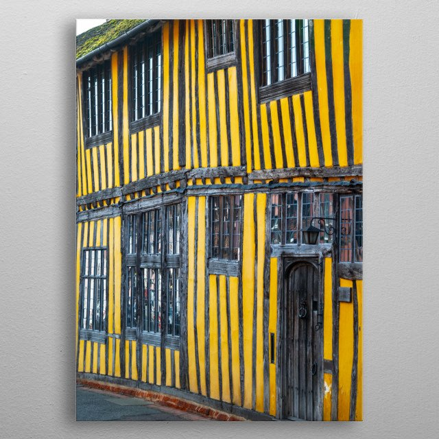 Lavenham is a village, civil parish and electoral ward in Suffolk, England.  metal poster