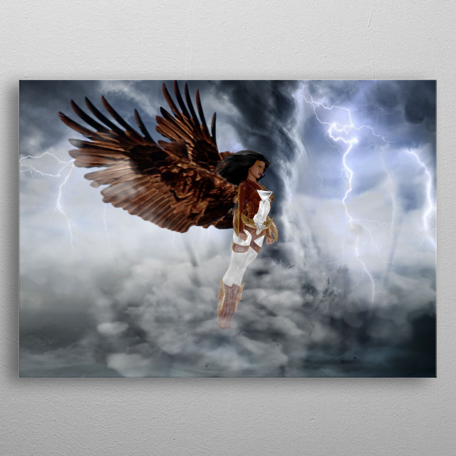 Agila is a character from Sky Kingdom from the Fictional story Perlas ng Silangan Book. Philippine Eagle gives her air power and weakness.  metal poster