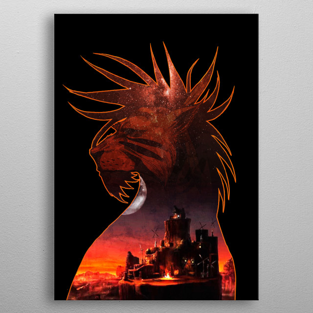 Red Canyon metal poster