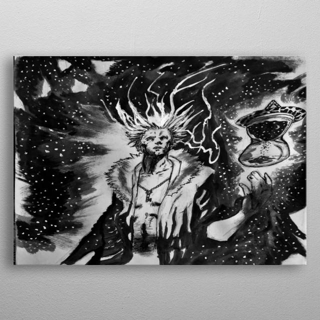 Drifter can manipulate both time and space. metal poster