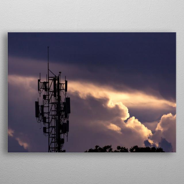 sky at sunset metal poster