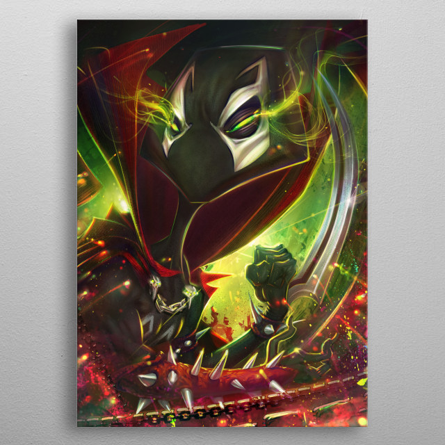 spooney X cartoonized from spawn metal poster