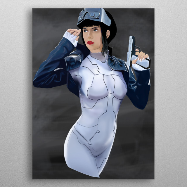 From Ghost in the Shell Movie, starring Scarlett Johansson metal poster