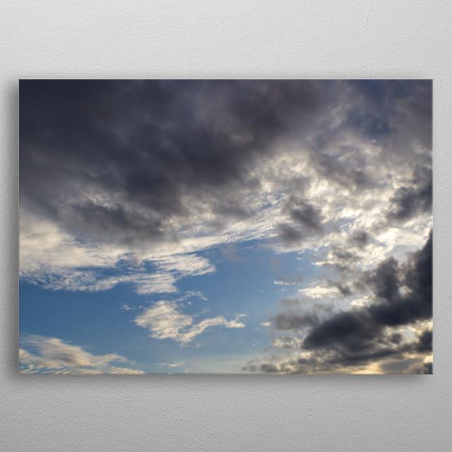 sky at sunset in Venezuela metal poster