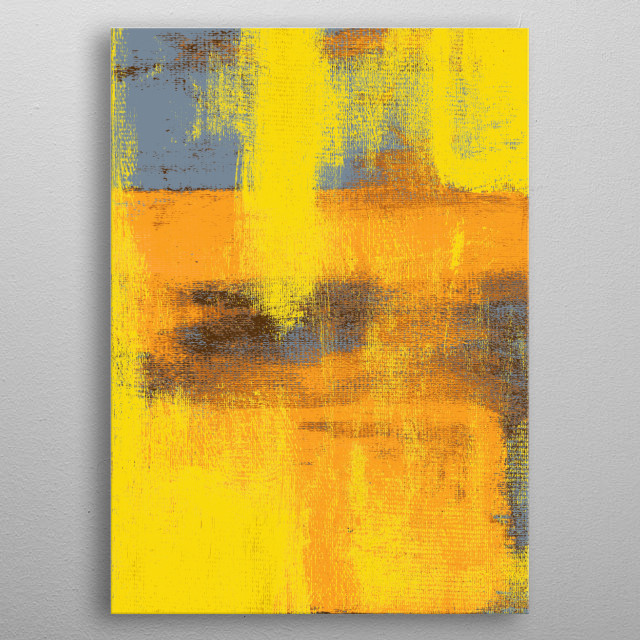 Abstract painting by R. Trickett. Massilia. African-inspired.  metal poster