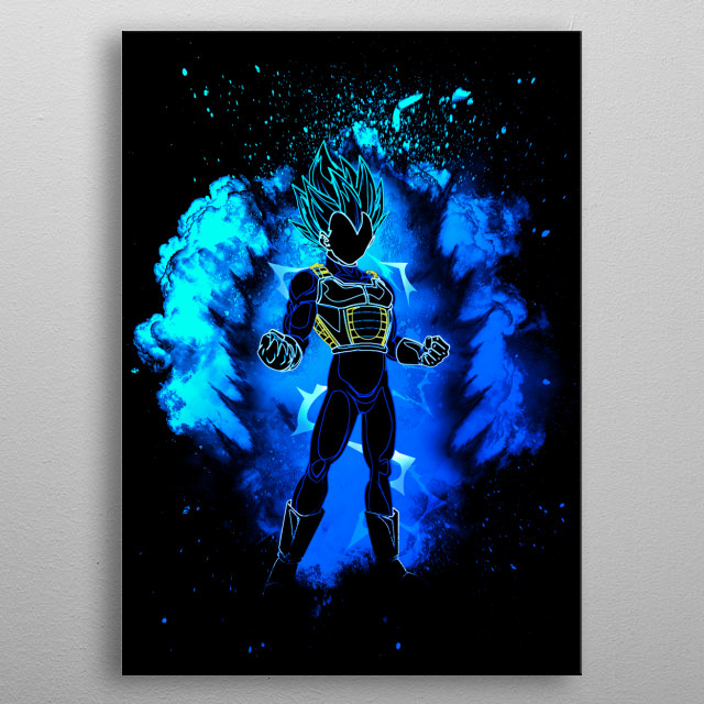 Black Silhouette of the Prince metal poster