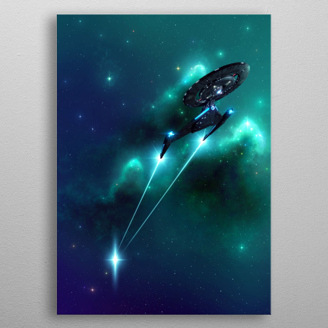 U.S.S. Discovery NCC-1031 metal poster