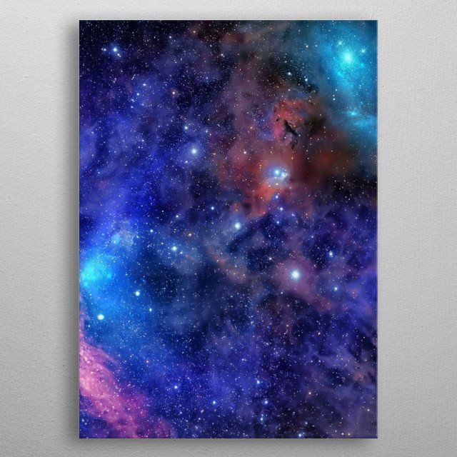Outer Space metal poster