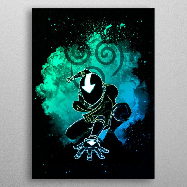 Black Silhouette of the Airbender metal poster