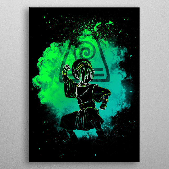 Black Silhouette of the earthbender metal poster