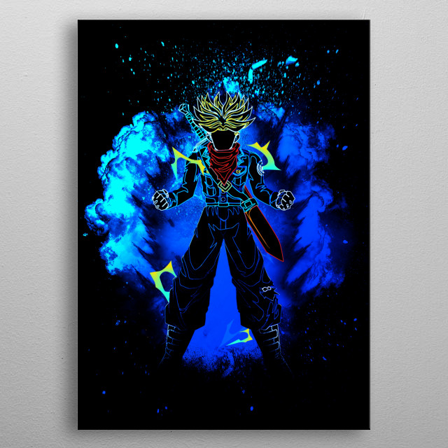 Black Silhouette of the Future metal poster