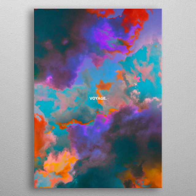 Clouds are one of the most fascinating natural elements to observe, add colors and the mix is perfect! metal poster