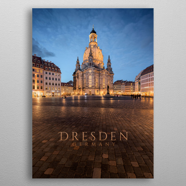 Church of our Lady, Dresden, Germany metal poster