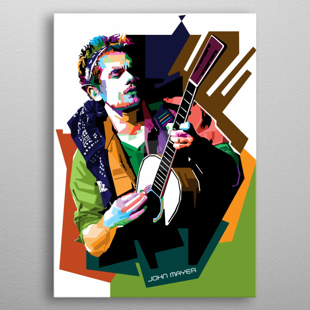 John Mayer Design Just For Music Lovers Everywhere. metal poster