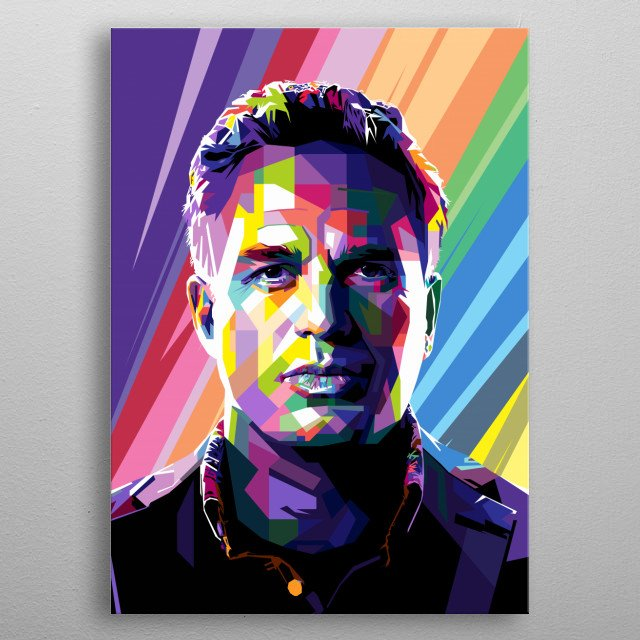 Pop Art Style in WPAP of Mark Alan Ruffalo an American actor and producer who made his screen debut in an episode of CBS Summer Playhouse. metal poster