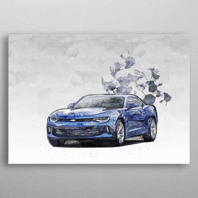 2016 Chevrolet Camaro RS metal poster