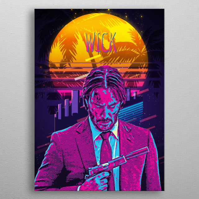 A statement piece and artwork all in one. metal poster