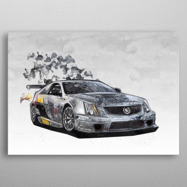 2011 Cadillac CTS-V Coupe Racecar metal poster