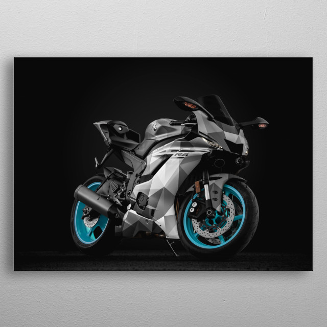 Experimentation with a Poly skin for the Yamaha R6 metal poster