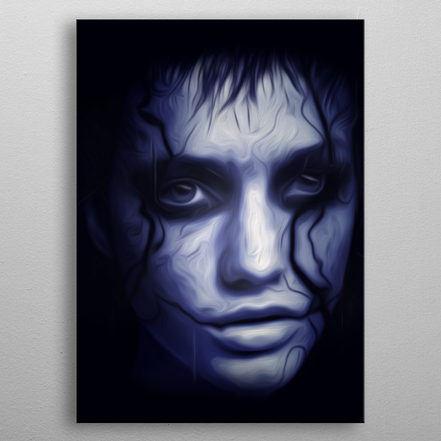 Digital paint with a wild girl's portret. metal poster