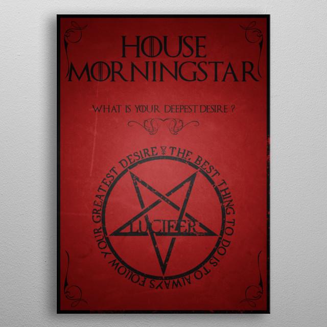 House Lucifer Morningstar metal poster