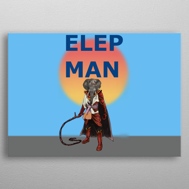 Nature The elephant hero is armed with Whip weapon . The left arm is a mechanical device. Can have enormous power to control the animals metal poster